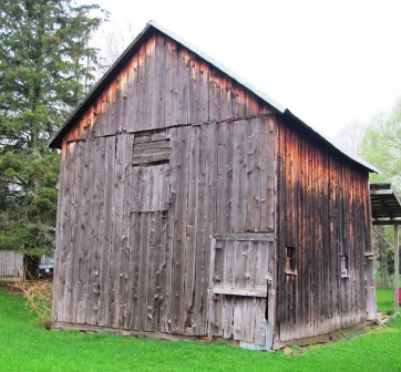 Rear of the barn.