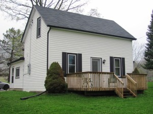 Front of the house showing the original home.